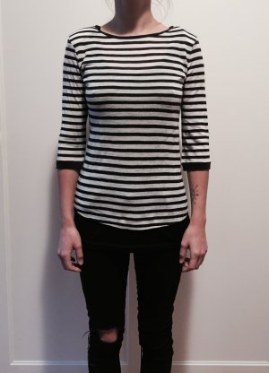 Mango T-shirt rayé blanc-noir