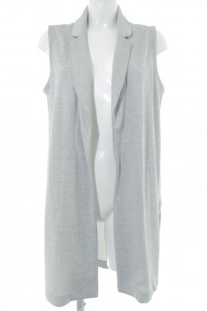 Mango Long Knitted Vest grey-light grey flecked casual look