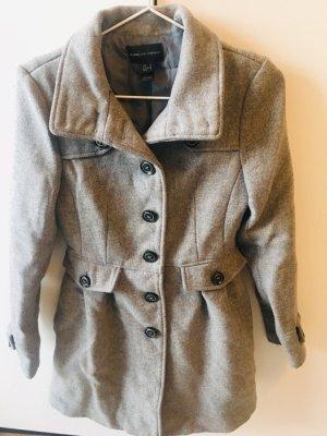 Mango Wool Coat grey-black