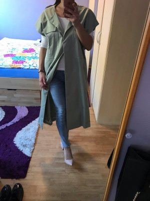 Mango casual Trench Coat sage green
