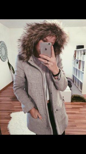Mango Suit Manteau à capuche gris-gris clair