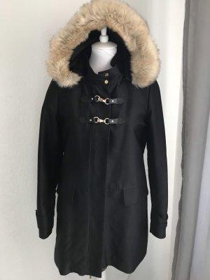 Mango Manteau court noir