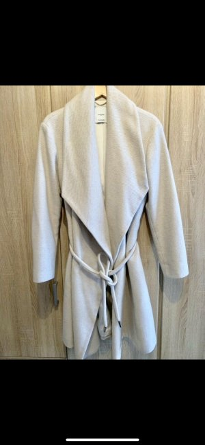 Mango Wool Coat natural white wool