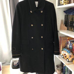 Mango Wool Jacket black