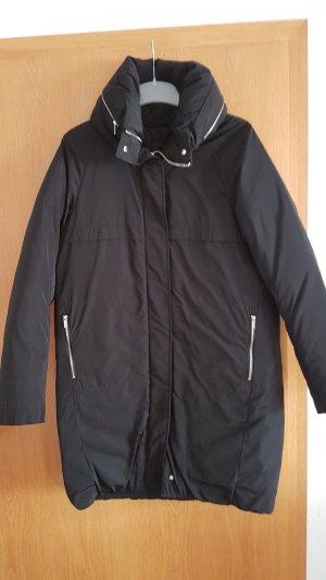 Mango Mantel O-Form, Zipper, schwarz