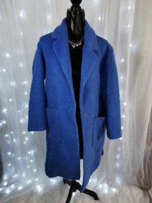Mango Oversized Jacket blue
