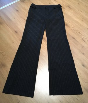 Mango Marlene Trousers black-white