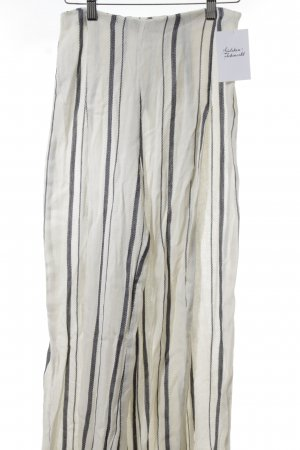 Mango Marlene Trousers cream-blue striped pattern beach look