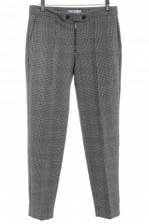 Mango Marlene Trousers grey-light grey check pattern business style