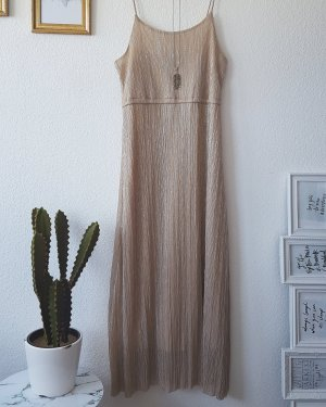 Mango Maxi Kleid Dress Glitzer Silber Gold