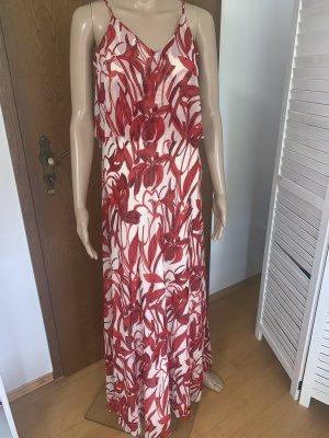 Mango Maxi-jurk wolwit-rood Polyamide
