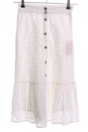 Mango Maxi Skirt natural white flower pattern casual look