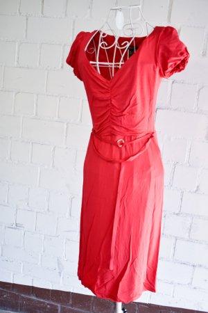 Mango Medi Kleid in Rot