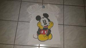 Mango Micky Mouse T-Shirt - weiß - Gr. L - neuwertig !