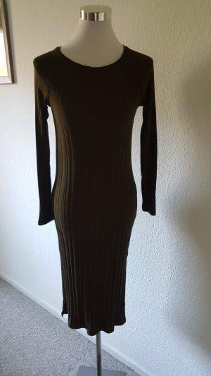 MANGO Midi Kleid mit Rundhalsausschnitt
