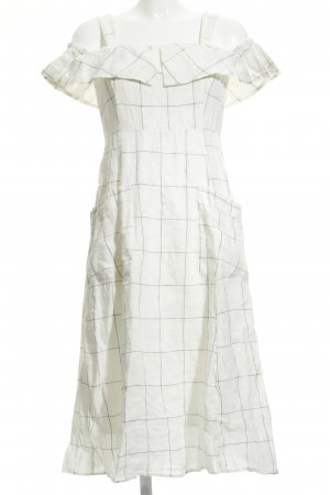 Mango Midi Dress natural white-black check pattern casual look