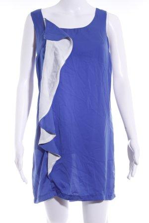 Mango Minikleid blau-weiß Colourblocking Elegant