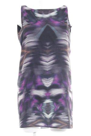 Mango Minikleid schwarz-lila psychedelic-Muster Casual-Look