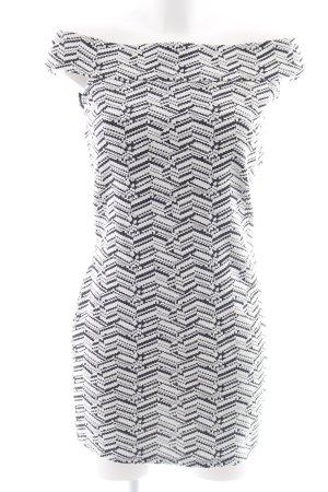 Mango Minikleid weiß-schwarz abstraktes Muster Party-Look