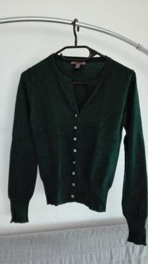 Mango MNG Basic Strickjacke grün dunkelgrün XS 34 Cardigan