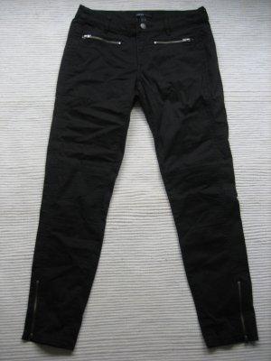mango mng casual neue hose schwarz bikerhose gr. 36 s
