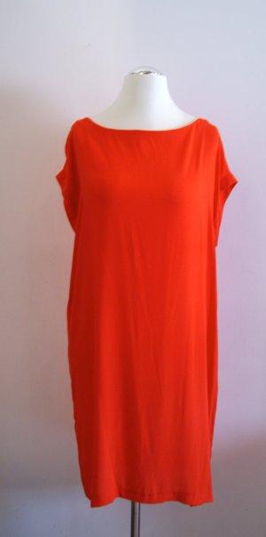 Mango MNG Gerades Kleid Helen2, orange, Gr. L (Gr. 42) NEU