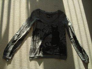 Mango Jeans Camicia fantasia nero-grigio scuro Cotone