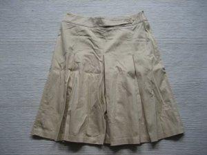 mango mng rock plisseerock beige sommer gr. 36 s