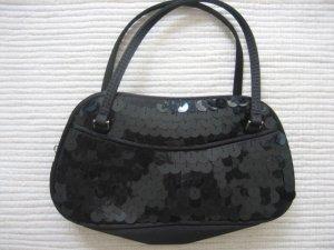 mango mng schwarze kleine tasche partytasche pailletten neu clutch
