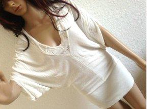Mango MNG Suit Bluse Top Shirt Tunika M-L Gr 36 38 luftig loose creme weiß