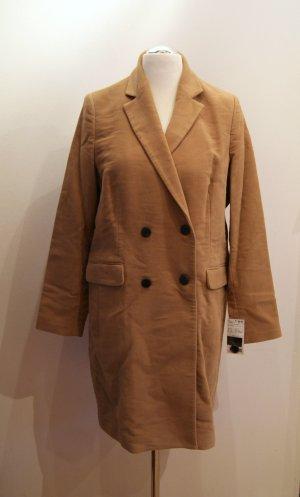 Mango MNG Suit Woll-Mantel, hellbraun, camel, Gr. XL (Gr. 42) NEU