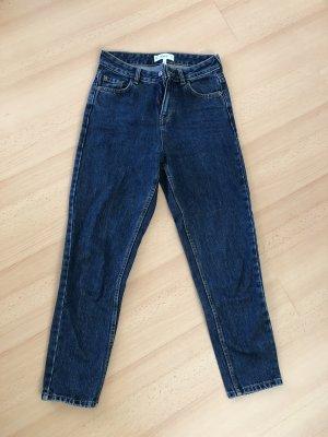 Mango Jeans taille haute bleu foncé