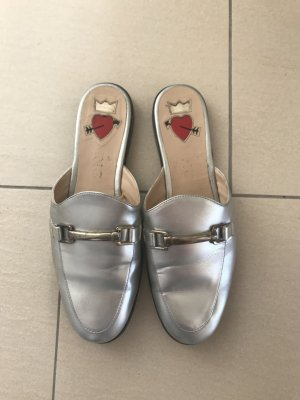 Mango mules slipper slip on Schuhe Silber 38/39 super cool