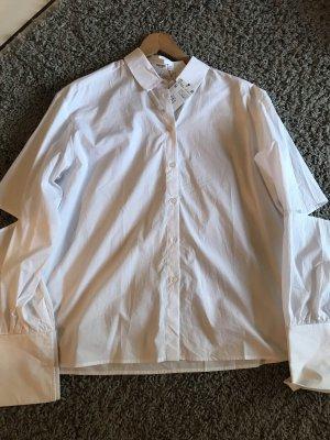 Mango Cuello de blusa blanco