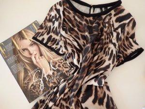 MANGO Oberteil mit Leopardenmuster in lässiger Passform
