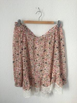 Mango off Shoulder Bluse geblümt