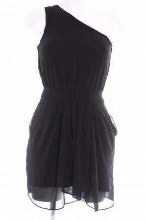 Mango One Shoulder Dress black party style