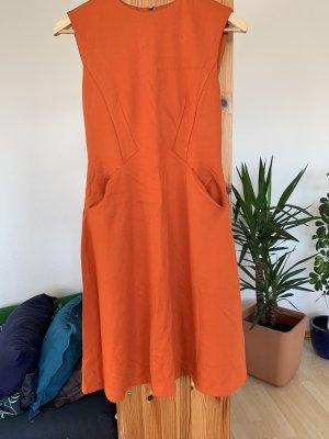 Mango Midi Dress orange