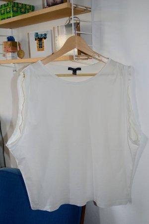 MANGO, Oversize Shirt, Ärmellos mit tiefem seitlichen Ausschnitt