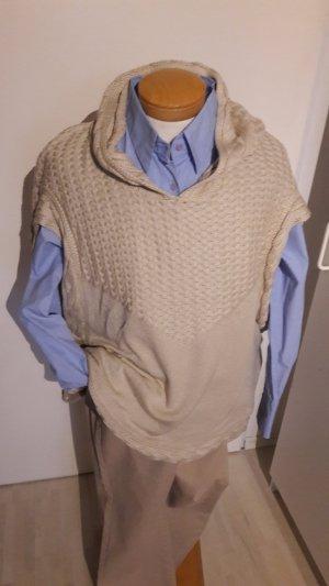 Mango Maglione con cappuccio beige-marrone chiaro Tessuto misto