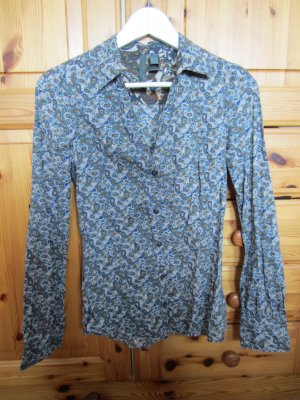Mango Paisley Bluse Baumwolle Gr. S TOP