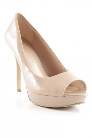 Mango Peeptoe Pumps nude Party-Look