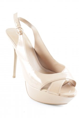 Mango Plateau-Pumps nude Lack-Optik