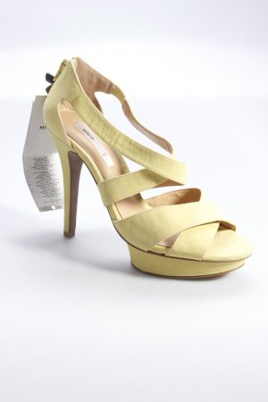 Mango platform sandals yellow