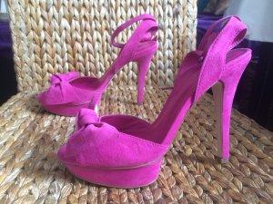 *** MANGO Plateau-Sandaletten High Heels Sexy Gr. 38 Neu ***