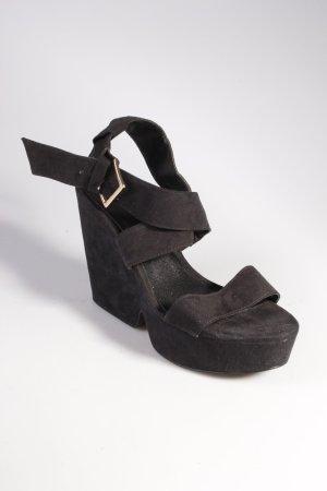 Mango Plateau Sandaletten schwarz