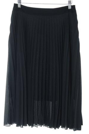 Mango Geplooide rok zwart casual uitstraling