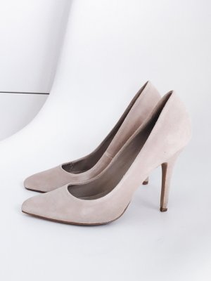 Mango Pointed Toe Pumps nude Wildleder, Gr. 36