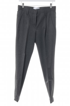 Mango Premium Pleated Trousers dark grey business style