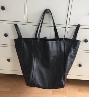 Mango Premium Echtleder Tasche XXL Shopper